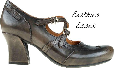 The Earthies Wellness footbed features a cupped heel for proper