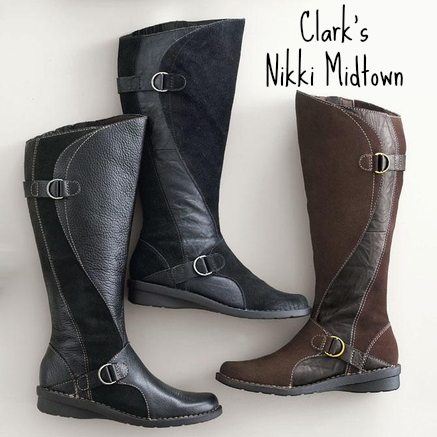 clarks wide shaft boots