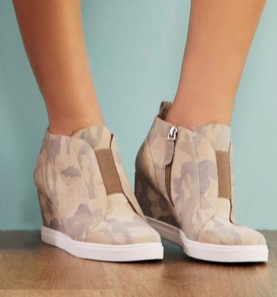 Comfortable Wedge Sneakers - Linea Paolo Felicia