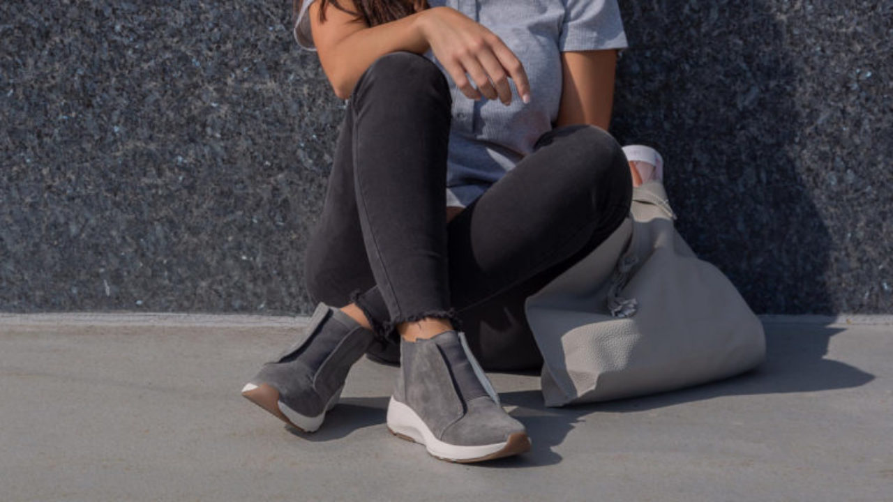 most comfortable wedge sneakers