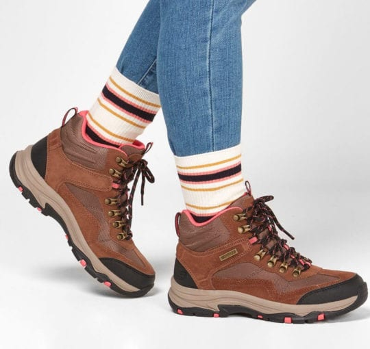 best hiking boots for women- skechers trego