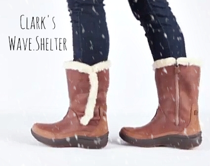 Shelter: If you're a fan of the Clark's Wave line of uber-comfort shoes, you'll love their winter boot, the Wave.Shelter or the new lace-up Wave.Cabin.