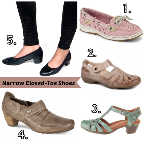 Closed toe shoes for summer dresses