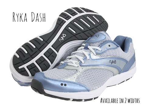 Ryka Dash: Lightweight with excellent cushioning to absorb shock. Room